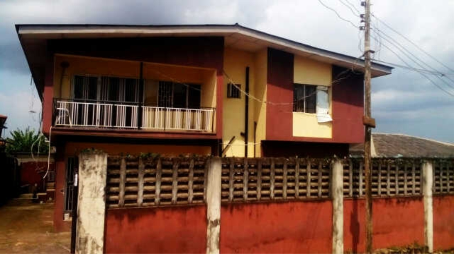 Kola Akomolede & Co. For sale A Block of 4 Units of 3 bedroom flats + 1 Units of 2 bedroom flat at Egbe, Lagos